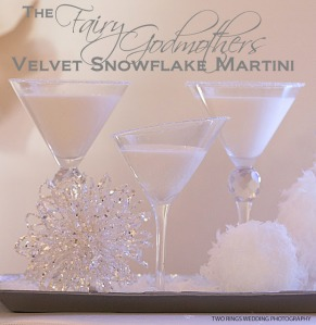 The Fairy Godmother Velvet Snowflake Martini